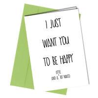 #12 VALENTINES or BIRTHDAY CARD ADULT Boyfriend or Girlfriend HUMOUR Funny Rude