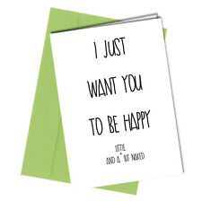 #12 VALENTINES or BIRTHDAY CARD ADULT Boyfriend or Girlfriend HUMOUR Funny Rude