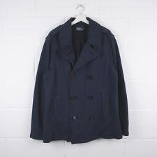 Vintage POLO RALPH LAUREN Navy Blue Knit Pea Coat Jacket Size Mens XXL /R37023