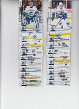 17/18 OPC Vancouver Canucks Team Set w/ Checklist and RCs - Skille Boeser RC +
