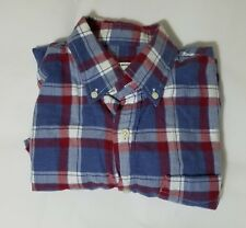 Mens Club Monaco Shirt - Casual, Size XS, Red and Blue Plaid Color