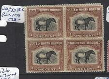 NORTH BORNEO  (PP1912B)  TAPIR 1C  SG 158 BL OF 4   MNH
