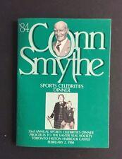 1984 Conn Smythe Sports Celebrity Dinner Program Autographed Red Kelly Upshaw ++