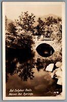 Postcard RPPC c1920s San Diego CA Warner Hot Springs Hot Sulphur Pools