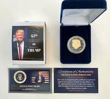 """DONALD TRUMP//PENCE,/"""" VICTORY TOUR/"""" 12-6-2016 FAYETTEVILLE N.C TICKET COIN"""