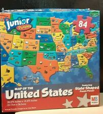 Milton Bradley Junior Jigsaw Puzzle Map of The United States 84 pieces