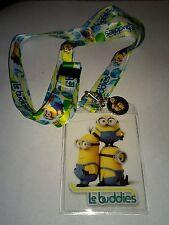 Disney Minions Le Buddies Charm Lanyard with ID Tag Bob,Stewart,Kevin NWT Movie