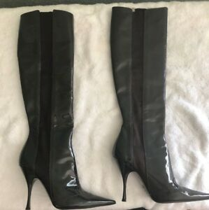 Dolce and Gabbana Patent High Boots 39 (8.5)