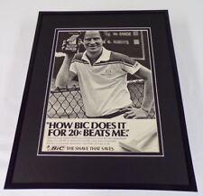 John McEnroe 1985 Bic Razors 11x14 Framed ORIGINAL Vintage Advertisement