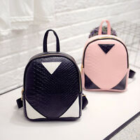 Chic Women's Faux Leather Rucksack Backpack Lady Girls Mini School Casual Bags