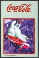 Coca Cola Icebear Skateboard Nostalgie Barspiegel Spiegel Bar Mirror 22 x 32 cm
