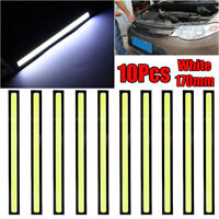 10pc Waterproof LED COB Car DRL Driving Daytime Running Lamp Fog Light 12V White