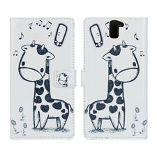 Cute Giraffe Design Leather Wallet Case Cover For One Plus One, Holds Card Cash