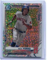 Nick Yorke 2020 Bowman Draft Chrome Sparkle Baseball Card Boston Red Sox Speckle