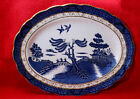 """ROYAL DOULTON MAJESTIC COLLECTION-BOOTHS REAL OLD WILLOW OVAL PLATTER 13 3/8"""""""