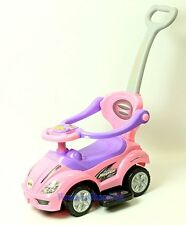 New Deluxe Mega Push Cart 3 in 1 Toddler Wagon Kid Ride on Pink Buggy