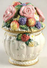 Fitz & Floyd Strawberries & Roses Candy Box 11911098