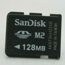 SANDISK 128MB M2 MEMORY CARD FOR SONY ERICSSON XPERIA PHONE CAMERA 128 MB M2