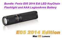 Fenix E05 2014 Edition 85 Lumen Cree XP-E2 LED AAA Keychain Flashlight Black
