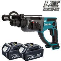 Makita DHR202Z 18V Li-ion SDS Plus Rotary Hammer With 2 x 5.0Ah BL1850 Batteries