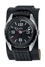 Esprit Edc METAL GRID - COOL BLACK Herrenuhr Edelstahl Nylonband EE100541001