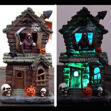 "LED HAUNTED HOUSE LIGHT UP HALLOWEEN DECORATION 10"" spooky reaper horror skull"