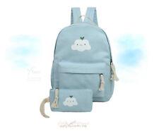 2 Pcs/Set Cloud Backpacks Cloud Bag School Bag Kindergarten Bag Girls Women Bag