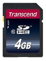 Transcend 4GB SDHC Class 10 Speicher Karte 4 GB 20 MB/s TS4GSDHC10