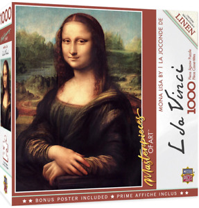 MasterPieces Masterpieces of Art Mona Lisa 1000 Piece Jigsaw Puzzle NEW