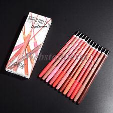 12 Farben Mode Damen Lippenstift Stift Lip Liner Pencil Wasserfest Make Up