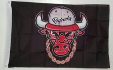 Chicago Bulls High Quality Banner 3x5 Ft Flag Rufneks Bull Classic Chain Fitted
