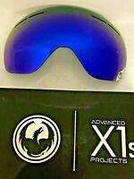 $90 Dragon X1S Dark Smoke Blue DSMK Ski Goggle Replacement Lens NWT Snowboard