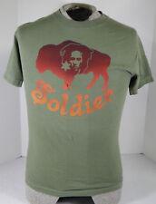 "Bob Marley ""Buffalo Soldier"" T-Shirt ^ Size Youth Medium Green ^ NWT Shirt"