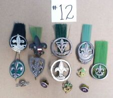 VTG BOY SCOUTS INTERNATIONAL MEDAL BADGE PINS WEEST PARAAT SIEMPRE LISTO ETC #12