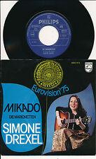 """EUROVISION 1975 45 TOURS 7"""" HOLLANDE SIMONE DREXEL MIKADO"""