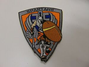 MILITARY PATCH HOOK & LOOP BACK SPARTANS