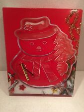 Mikasa Crystal Snowman serving platter New Never Used
