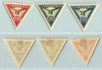 Latvia, 1932, SC CB6a-CB8a, mint, imperf. d8586