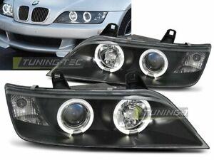 NEW Pair Headlights für BMW Z3 96-02 Halo Rims Black AT LPBM47-ED XINO AT