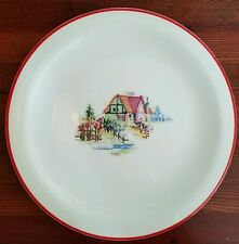 Crooksville Pantry Bak-In PETIT POINT HOUSE Chop Plate Round Platter Serving 30s