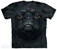 Dog T Shirt BLACK PUG FACE The Mountain Animal Pet Tee S M L XL 2XL 3XL 4XL 5XL
