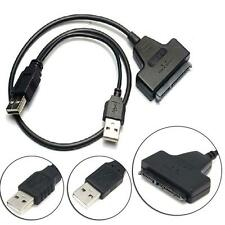 USB 2.0 to SATA 22Pin Data Power Cable Adapter For 2.5 HDD Hard Disk Driver WR