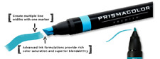Prismacolor Premier Art Markers X 12 Colours - Chisel and Fine Nibs