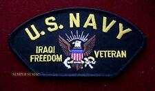 US NAVY IRAQI FREEDOM GULF WAR VETERAN HAT PATCH LOGO SEAL USS OIF PERSIAN GIFT