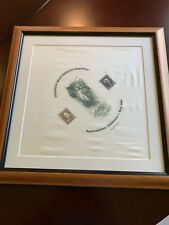 PACIFIC 97 WORLD PHILATELIC EXPOSITION ENGRAVING ON SILK SAN FRANCISCO 1997