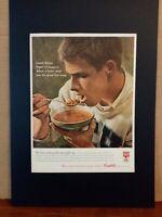 Pubblicità originale Campbell's anni '60 rifilatura da rivista in passepartout