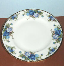 "Royal Albert MOONLIGHT ROSE Salad Dessert Plate 8"" Blue Florals"