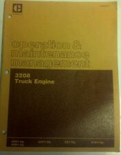 Caterpillar 3208 Truck Engine Operations and Maintenance manuel used