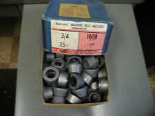 "Machine Bolt Anchors Size 3/4, 25 in box, ""Multi-Unit""  Code 1608"