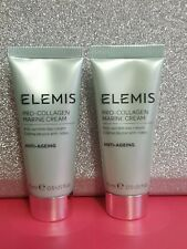 2 X Elemis Pro Collagen Marine Cream 15ml (30ml) Anti Ageing - New & Sealed
